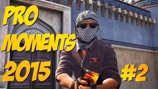 CS:GO - Best PRO Moments! 2015 #2 (Flickshots, Crazy Clutches, Inhuman Reactions, ACEs, Best Frags)