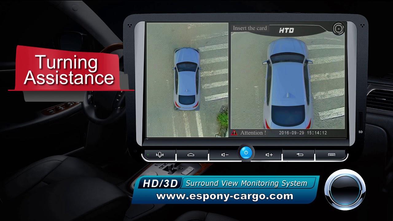 360 Bird Eye View Demo Video Car Dvr Camera Youtube
