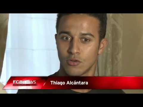 Thiago's first interview with Bayern