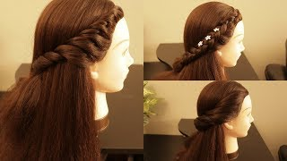 Cute & Easy Everyday Side Twist Hairstyles For School, College, work | natural hair Tutorial
