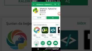 Pyhtonla Android telefonlardan kod yazma 2017