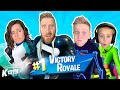 UNBELIEVABLE! Family Plays FORTNITE for the 1st Time Together // K-CITY GAMING