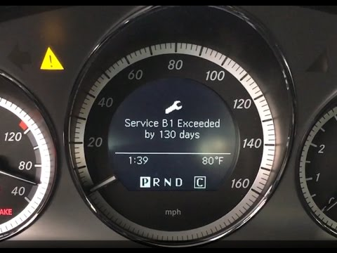 2010 Mercedes Benz C300 Service B1 Youtube