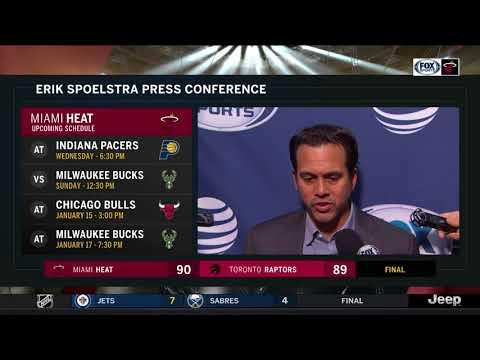 Erik Spoelstra -- Miami Heat vs. Toronto Raptors 01/09/2018