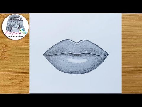 How to draw lips easy step by
