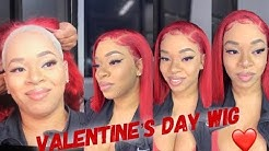 ULTIMATE VALENTINES DAY SLAY - Lace Frontal WIG w/ RED HAIR BOB