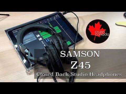 Samson Z45 Closed Back Over Ear Professional Studio Monitor Headphones