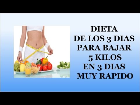 Dieta rapida para bajar 5 kilos en 3 dias