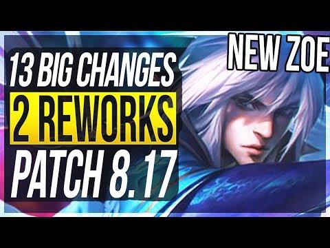 ZOE MINI-REWORK 13 BIG CHANGES & NEW OP CHAMPS Patch 817 - League of Legends
