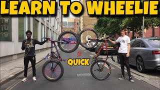 HOW TO WHEELIE (ANY) BIKE!!!
