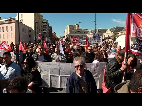 19 mars 2019 : manifestation à Nice à l'appel des syndicats