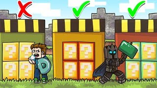 CHOOSE The SECRET LUCKY BLOCK DOOR In Minecraft! - Lucky Block Doors Mini-Game