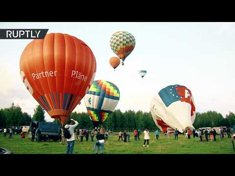 Фестиваль воздухоплавания «Золотое кольцо» в Переславле-Залесском — видео