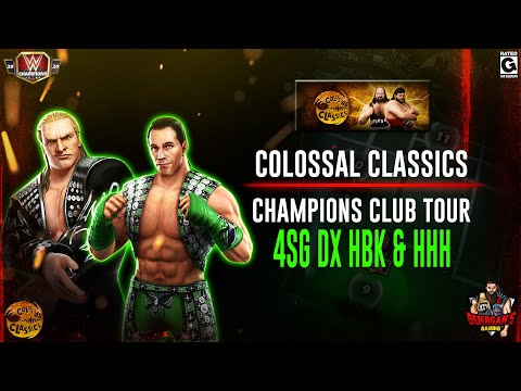 DX's HHH & HBK 4SG Colossal Classics Champions Club VIP Tour Gameplay / WWE Champions ⚔️