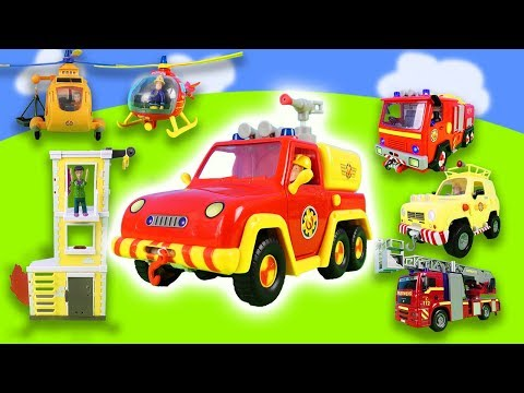 firefman-sam-unboxing:-fire-trucks-&-new-toy-cars-exciting-bailout