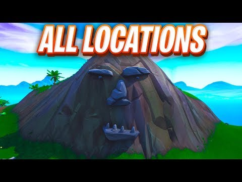 """""""Visit a Giant Face In The Desert, The Jungle, and The Snow"""" FORTNITE MAP LOCATION"""