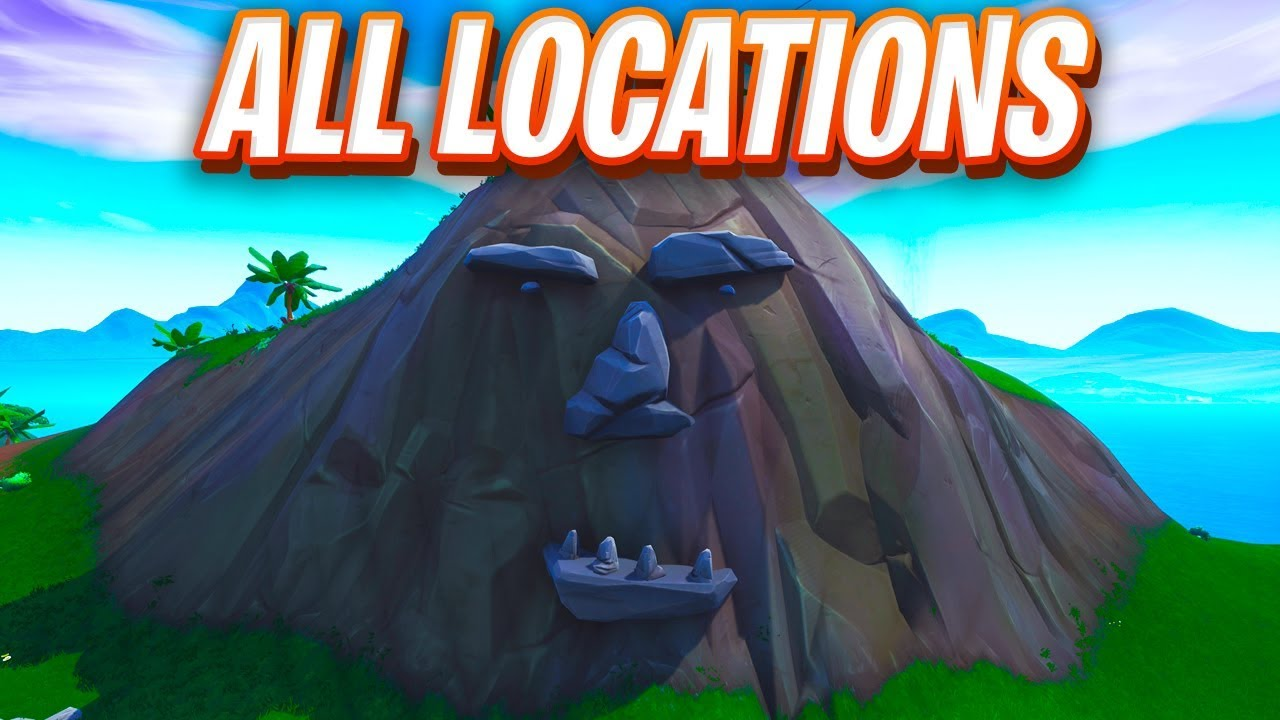 visit a giant face in the desert the jungle and the snow fortnite map location - fortnite visit a giant face in the jungle desert and snow