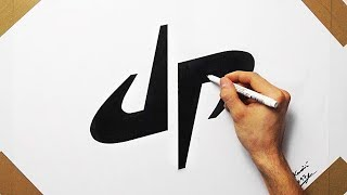 How To Draw DP Dude Perfect Logo On White  Paper | Fan Art ( Speed Drawing )