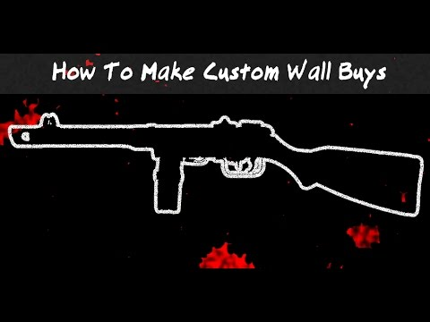 How to add Custom Wall buys (BO3 Mod Tools) Chalks, All Weapons With Download Tutorial #3
