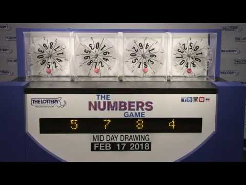 Midday Numbers Game Drawing: Saturday, February 17, 2018
