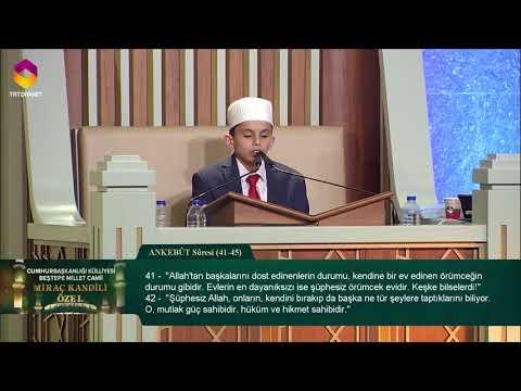 Çocuk Hafız'dan Muhteşem Kur'an Tilaveti   Ankebut 41-45
