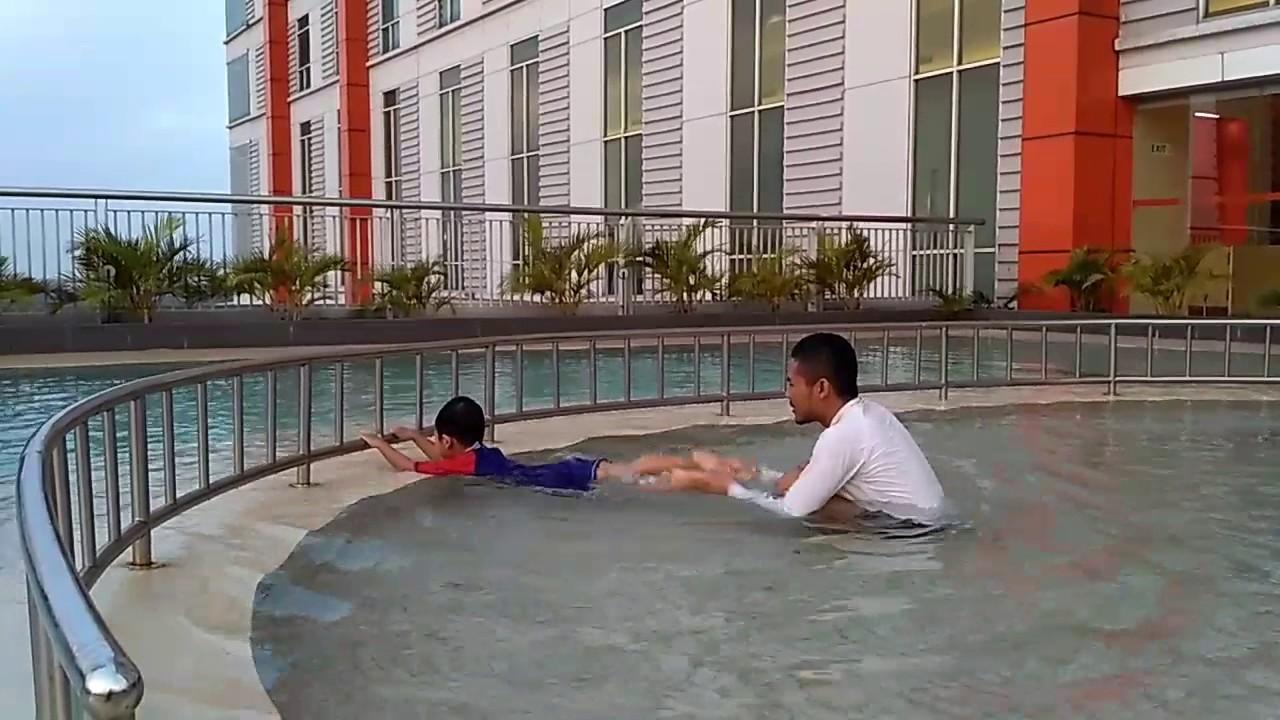 Swimming At Harris Hotel Bekasi Next To Summarecon Mall Bekasi