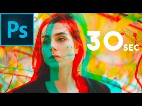 How to Make a Double Color Exposure Portrait in 30 Seconds | Photoshop