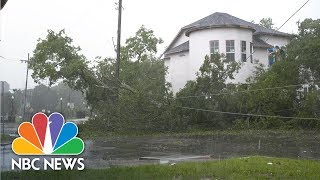 Watch: Tropical Storm Barry Hits Louisiana With Floods And Strong Winds | NBC News