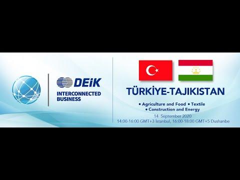 DEİK WEBINAR : #Türkiye - #Tajikistan Interconnected Business