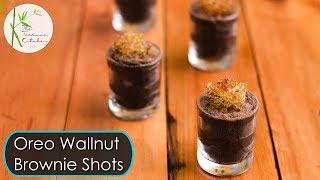 Oreo Walnut Brownie Shots