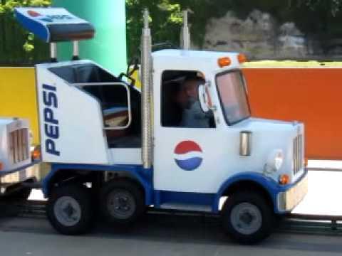 Tanner Riding A Pepsi Truck The Beach Boardwalk