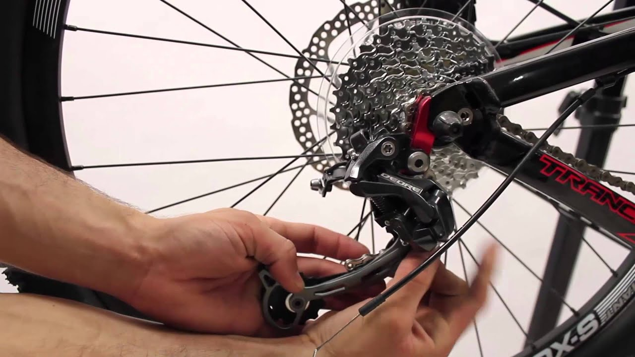 extraction installation derailleur arriere velo youtube. Black Bedroom Furniture Sets. Home Design Ideas