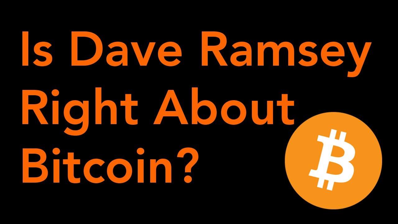 Ist Bitcoin eine gute Investition Dave Ramsey