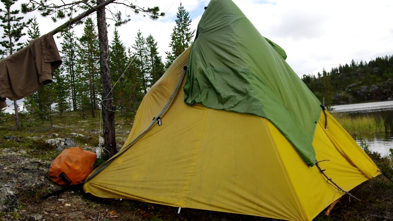 Tent sauna in Finland wilderness. & Tent sauna in Finland wilderness. - YouTube
