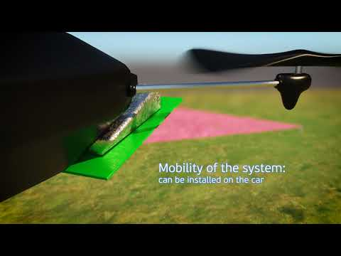 Wireless energy transmission for UAV