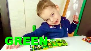 Learning colors with toy cars color song for children learning by playing