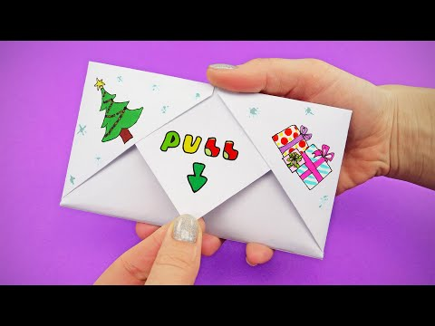 DIY Pull Tab Origami with POWERPUFF GIRLS CHRISTMAS | EASY ORIGAMI FOR EVERYONE