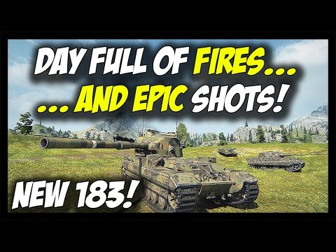 ► World of Tanks: Day Full of Fires and Epic Shots! - New HD FV215b 183 Gameplay