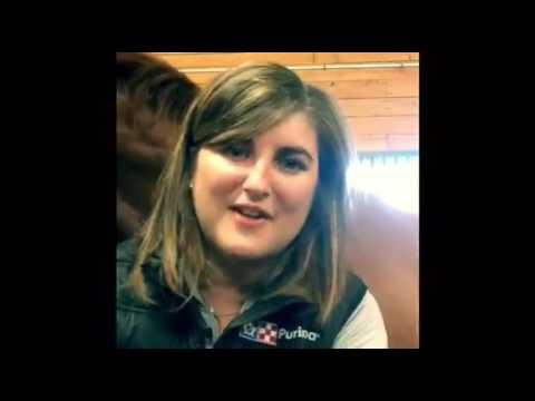 QM Stephanie Poupart de PURINA annonce cavalière Olympique AMY MILLAR
