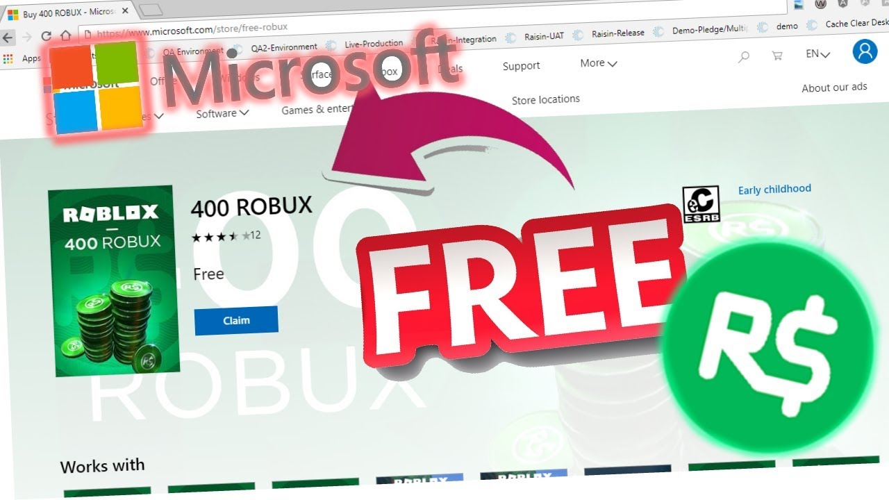 The only way to get free robux