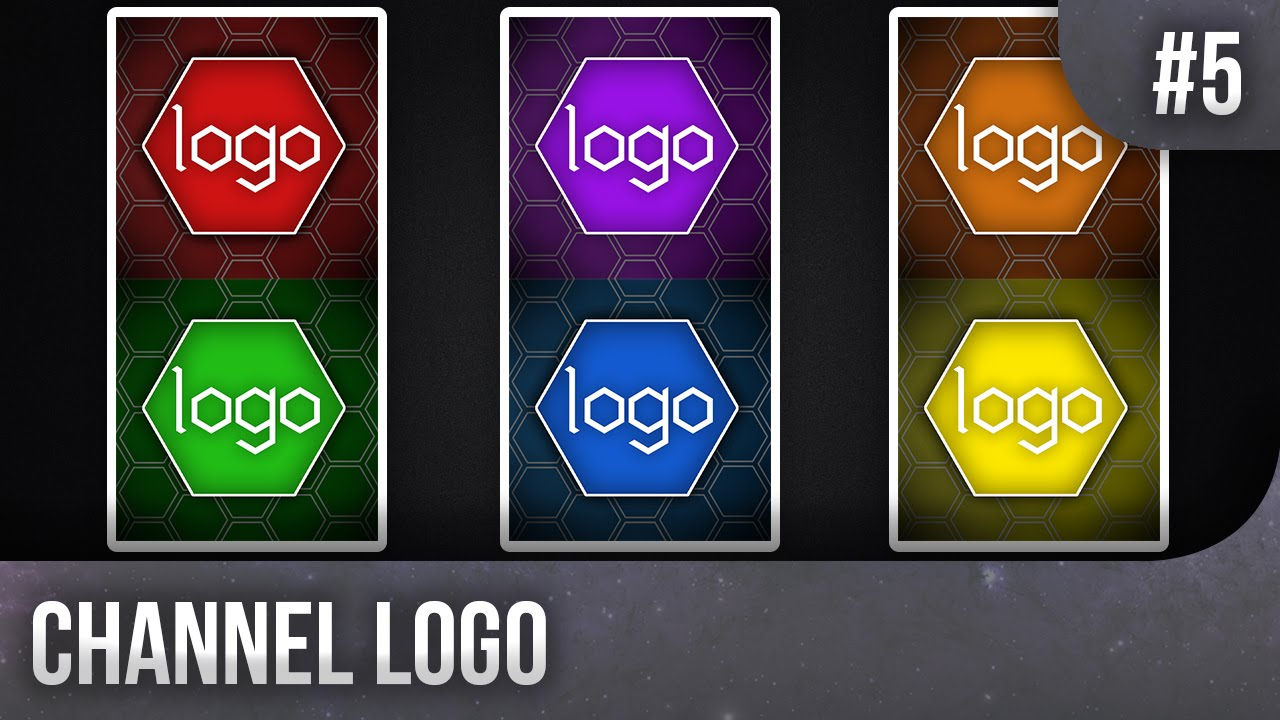 6 colours hexagon channel icon template 5 free photoshop download