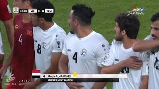 Việt Nam 2- 0 Yemen - Quang Hải xé lưới khung thành Yemen bằng cú sút phạt đăng cấp thế giới.