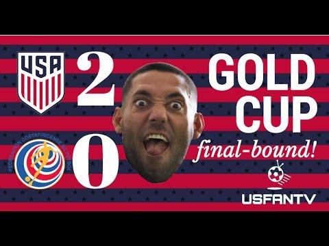 USfanTV: USA 2 Costa Rica 0 - on to the final!