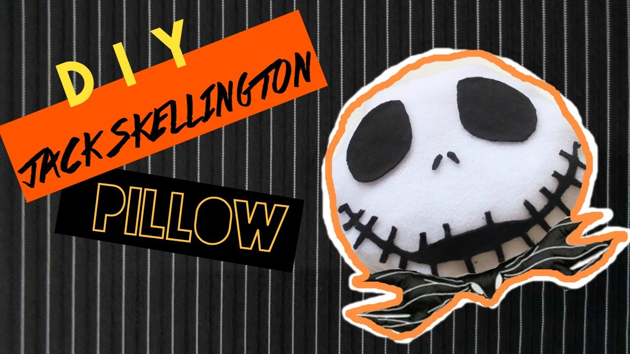 Jack skellington bathroom set - Diy Room Decor U2022 The Nightmare Before Christmas U2022 Jack Skellington Pillow No Sew U2022 Heartcindy Youtube