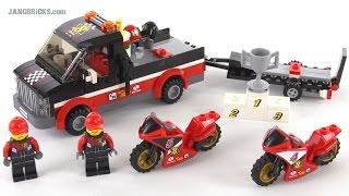 Lego City Racing Bike Transporter Review! Set 60084
