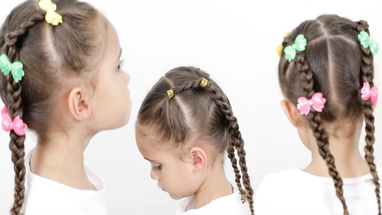 unique french braids hairstyle for little girls!   mixed kids hair care
