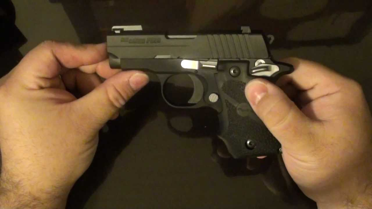 Plugged In Review >> Sig Sauer P238 Takedown First Impressions DeSantis - YouTube
