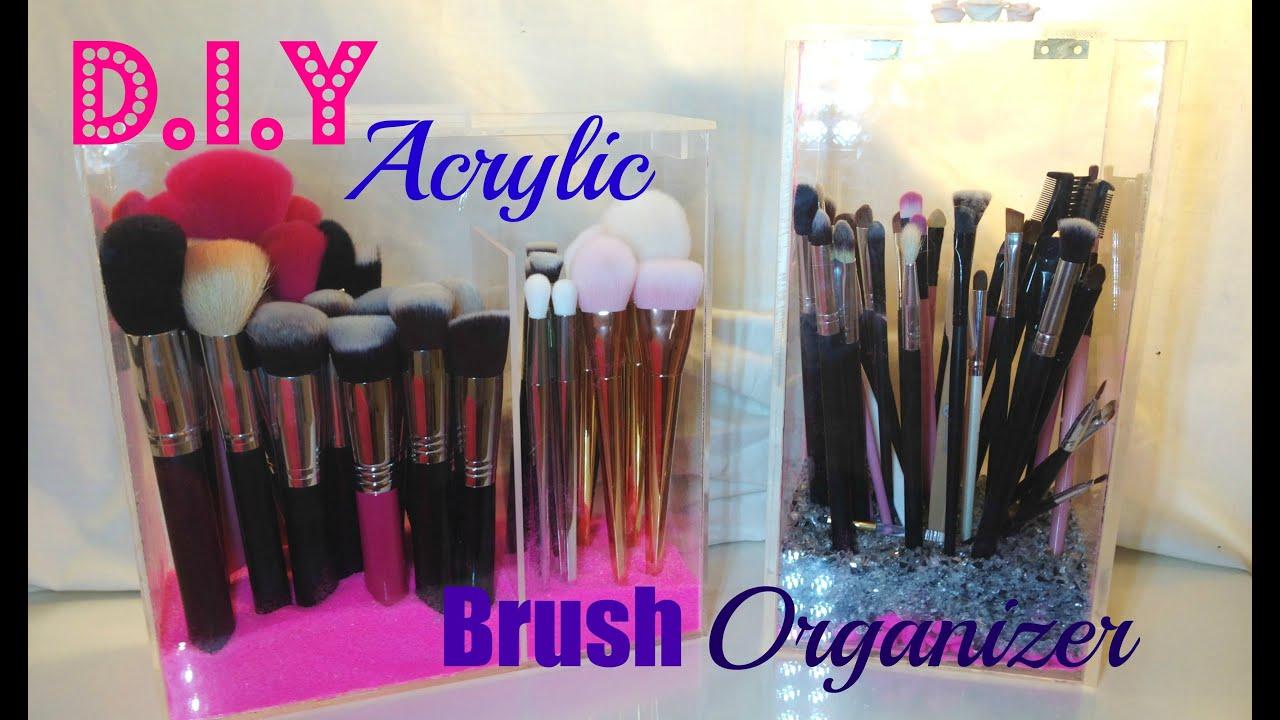 organizador para brochas de maquillaje