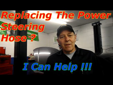 How To Replace The High Pressure Power Steering Hose - YouTube
