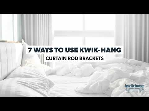 kwik hang curtain rod brackets hang